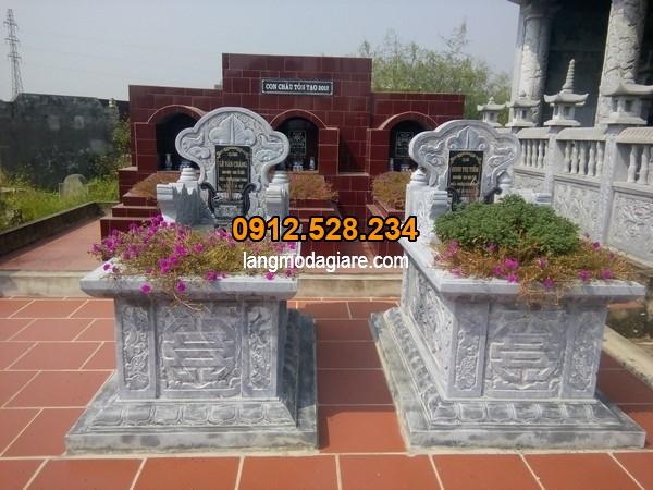 Mộ đá đẹp cho khu lăng mộ