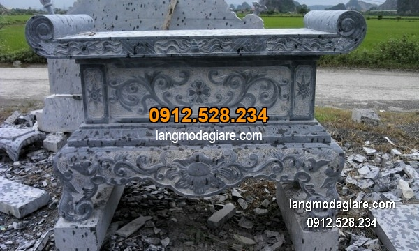 Bàn lễ đá xanh đẹp chất lượng cao giá hợp lý thiết kế cao cấp