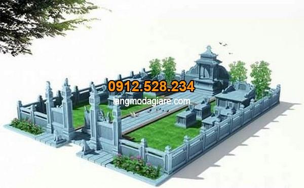 Bản thiết kế khu lăng mộ đá đẹp chuẩn phong thủy