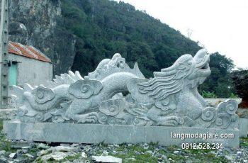 Chiếu rồng bằng đá chạm khắc tinh tế giá rẻ