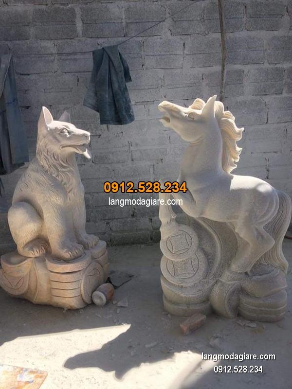 tượng chó đá đẹp chất lượng cao giá rẻ
