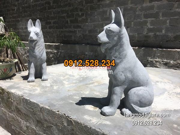 tượng chó đá đẹp chất lượng cao giá hợp lý