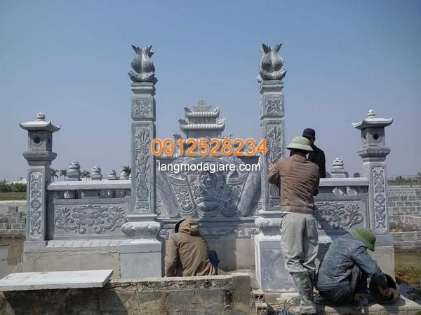 Mẫu cột cổng được làm từ đá cao cấp