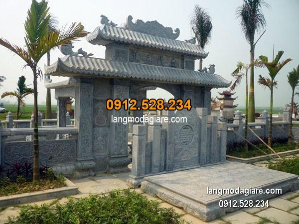 Cổng tam quan đá xanh đẹp nhất chất lượng cao giá hợp lý thiết kế cao cấp
