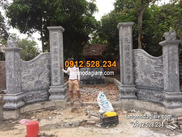 Cổng tam quan đá xanh đẹp chất lượng cao giá rẻ thiết kế hiện đại