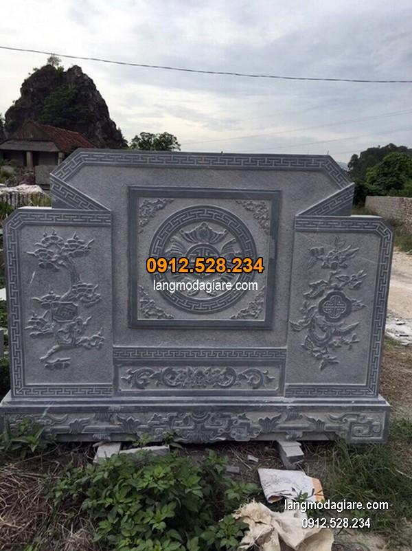 Cuốn thư đá chấn phong thủy đẹp cho khu lăng mộ giá tốt