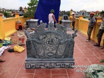 Cuốn thư đá chấn phong thủy đẹp cho khu lăng mộ giá hợp lý