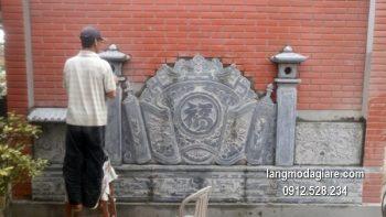 Cuốn thư đá chấn phong thủy đẹp cho nhà thờ giá rẻ