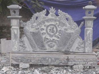 Cuốn thư đá chấn phong thủy đẹp cho đình làng giá tốt