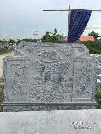Cuốn thư đá chấn phong thủy đẹp nhất cho khu lăng mộ chất lượng cao giá rẻ