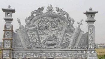 Cuốn thư đá chấn phong thủy đẹp nhất cho khu lăng mộ chất lượng cao giá tốt