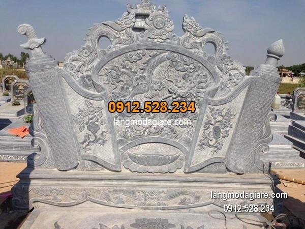 Cuốn thư đá chấn phong thủy đẹp nhất cho khu lăng mộ chất lượng tốt giá tốt