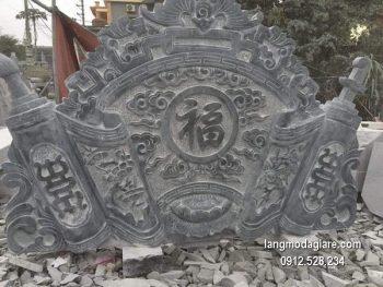 Cuốn thư đá chấn phong thủy đẹp nhất cho khu lăng mộ giá tốt