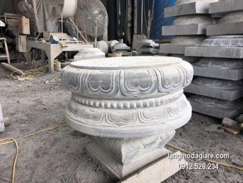 Chân tảng đá tròn đẹp giá rẻ chạm khắc thủ công