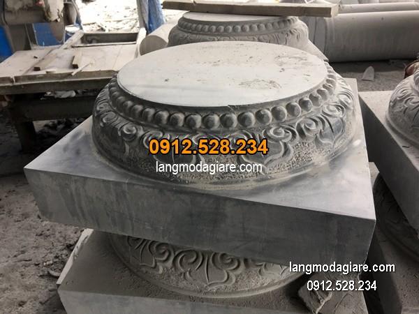 Chân tảng đá chạm khắc đẹp chất lượng cao giá hợp lý