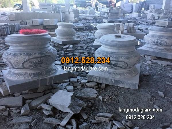 Chân tảng đá chạm khắc tinh tế chất lượng tốt giá tốt