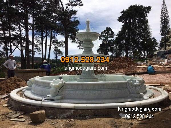 Đài phun nước bằng đá đẹp nhất thiết kế cao cấp giá hợp lý