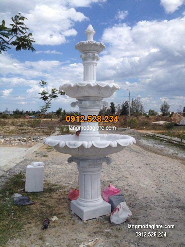 Đài phun nước bằng đá đẹp nhất thiết kế đơn giản giá hợp lý