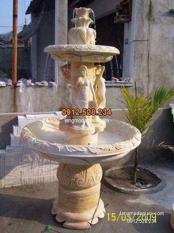 Đài phun nước bằng đá tự nhiên đẹp chất lượng tốt giá tốt