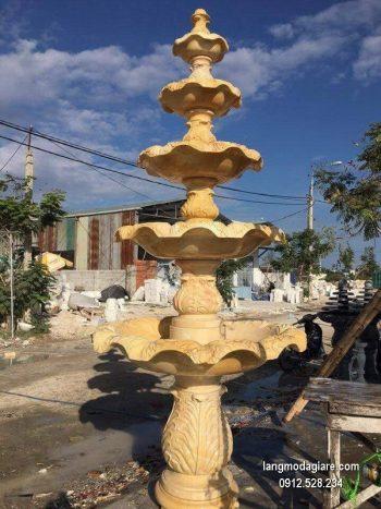 Đài phun nước bằng đá tự nhiên đẹp thiết kế hiện đại giá rẻ