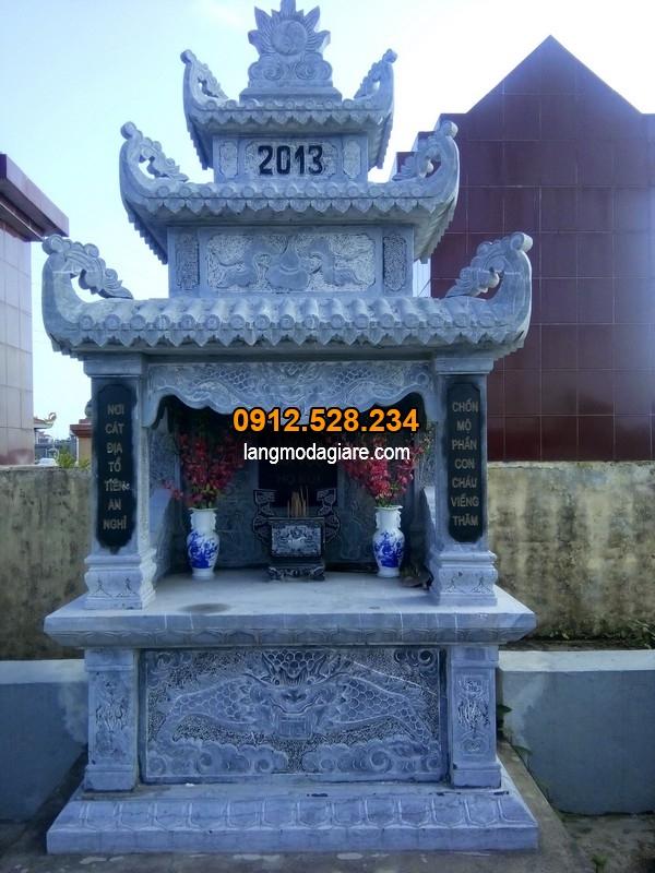Hình ảnh ngôi mộ đẹp được làm từ đá xanh cao cấp