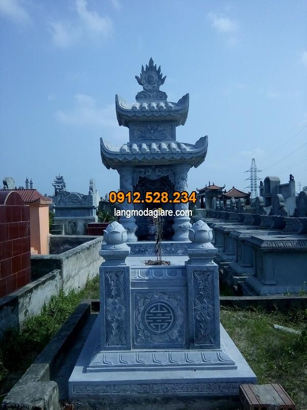 Hình ảnh mộ đá xanh đẹp tại Ninh Vân - Ninh Bình