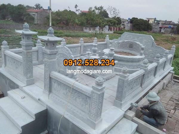 Mẫu mộ đá tròn đẹp tại khu lăng mộ đá