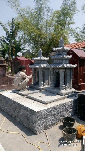 Lăng mộ đá xanh đẹp chất lượng tốt giá tốt thiết kế hiện đại