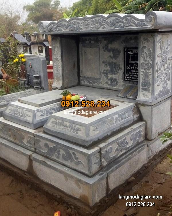 Lăng mộ đá xanh đẹp chất lượng tốt giá tốt thiết kế cao cấp