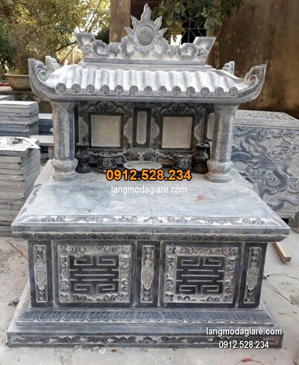 Lăng mộ đá xanh đẹp chất lượng tốt giá tốt thiết kế đơn giản