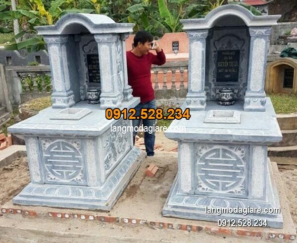 Lăng mộ đá xanh đẹp chất lượng tốt giá hợp lý thiết kế hiện đại