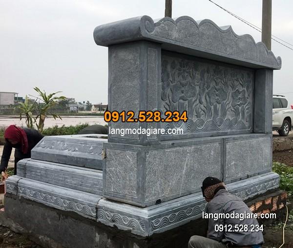 Lăng mộ đá xanh đẹp chất lượng tốt giá hợp lý thiết kế cao cấp