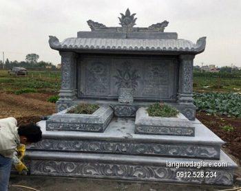 Lăng mộ đá xanh đẹp chất lượng tốt giá hợp lý thiết kế đơn giản