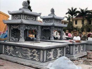 Lăng mộ đá xanh đẹp nhất chất lượng cao thiết kế hiện đại