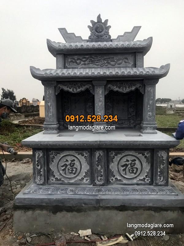 Lăng mộ đá xanh đẹp nhất chất lượng cao thiết kế đơn giản