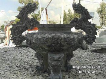 Lư hương đá xanh đẹp chất lượng tốt giá hợp lý thiết kế cao cấp