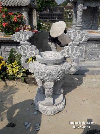 Lư hương đá xanh đẹp chất lượng cao giá rẻ thiết kế hiện đại