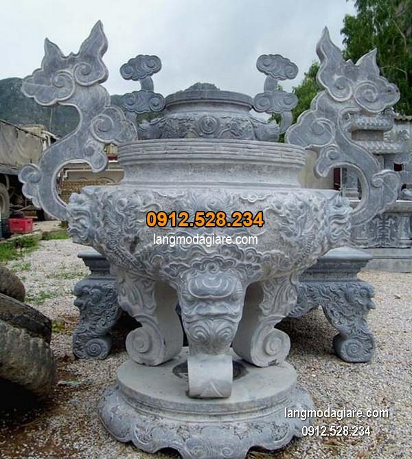 Lư hương đá xanh đẹp chất lượng cao giá tốt thiết kế cao cấp