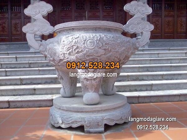 Lư hương đá xanh đẹp chất lượng tốt giá tốt thiết kế cao cấp