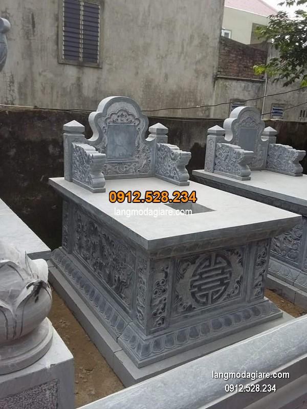 Mẫu mộ đá bành xanh khối giá hợp lý thiết kế hiện đại