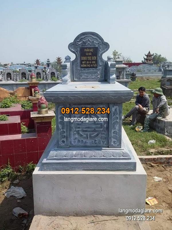 Mẫu mộ đá bành xanh khối giá hợp lý thiết kế cao cấp