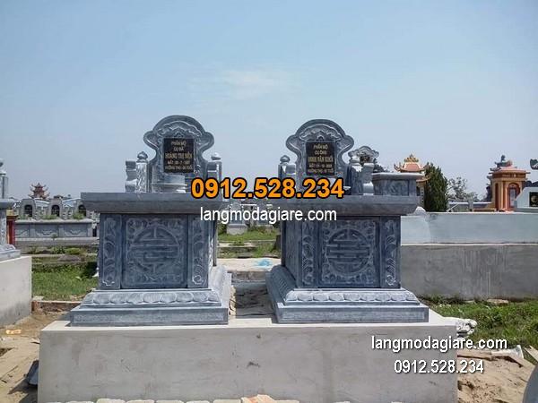 Mẫu mộ đá bành xanh khối giá hợp lý thiết kế đơn giản