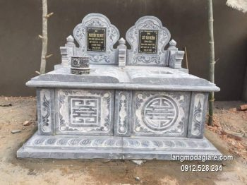 Mẫu mộ đá bành xanh đẹp chất lượng cao giá tốt thiết kế cao cấp