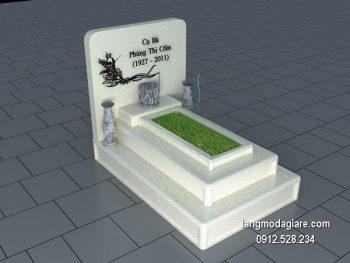 Mẫu mộ đá bành xanh đẹp giá rẻ thiết kế đơn giản