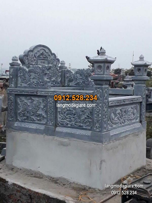 Mẫu mộ đá bành xanh đẹp giá tốt thiết kế đơn giản