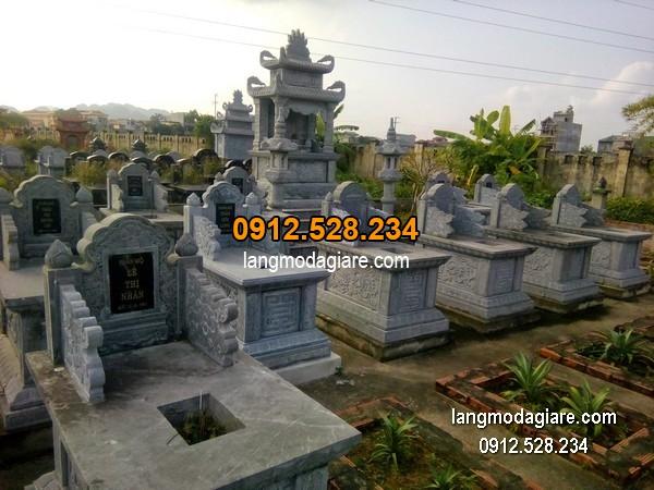 Mẫu mộ đá bành xanh đẹp giá hợp lý thiết kế cao cấp