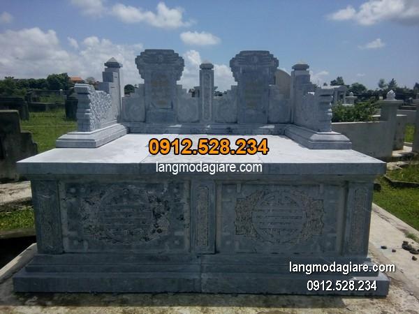 Mẫu mộ đá bành xanh giá rẻ thiết kế hiện đại