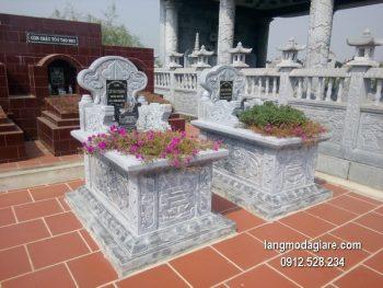 Mẫu mộ đá bành xanh giá rẻ thiết kế cao cấp