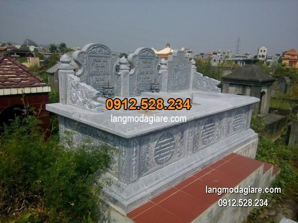 Mẫu mộ đá bành xanh giá tốt thiết kế cao cấp