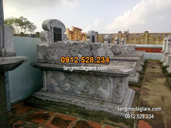 Mẫu mộ đá bành xanh giá hợp lý thiết kế hiện đại